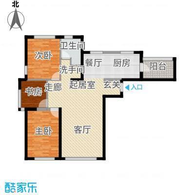 钻石9座114.36㎡三室两厅一卫114.36平米户型图QQ