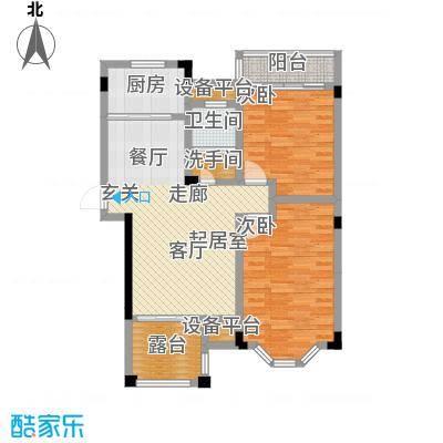南天阳光89.63㎡南天阳光N02户型 两房两厅一卫 89.63平米 2室2厅1卫1厨户型