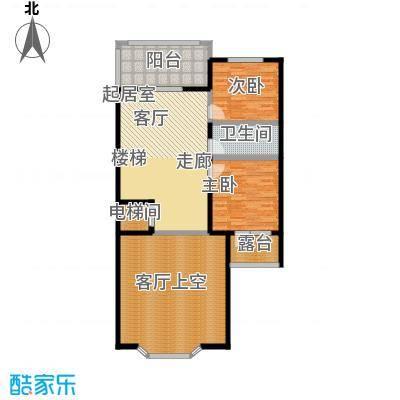 龙湖庄园二层 单层建筑面积86.37平米户型