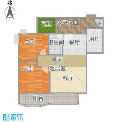 幸福立方14-21层04单元户型2室1卫1厨