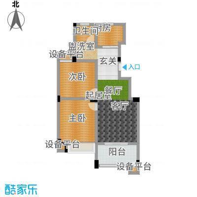 金色领寓86.73㎡金色领寓户型图(4/6张)户型2室2厅1卫