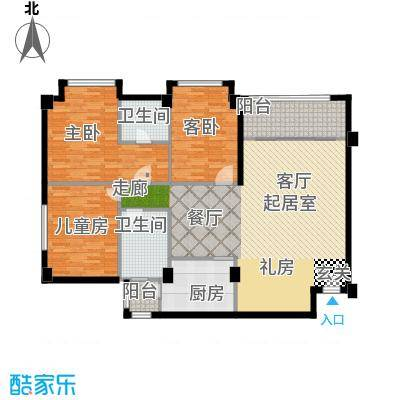 明月东山现代欧式户型3室2卫1厨