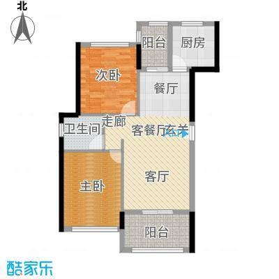 景湖荣郡户型2室1厅1卫1厨