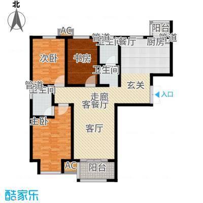 水岸茗苑140.00㎡水岸茗苑户型图(3/3张)户型10室