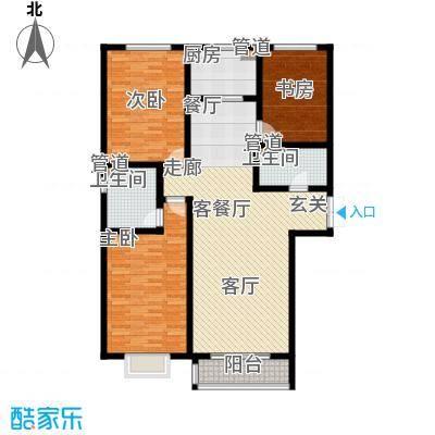 水岸茗苑130.00㎡水岸茗苑户型图(2/3张)户型10室