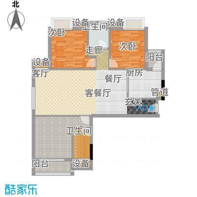 城南翡翠89.40㎡城南翡翠户型图在售2号楼B户型三室两厅一卫(5/5张)户型10室