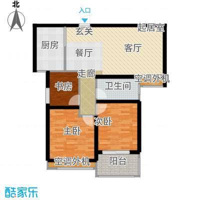银河湾明苑86.85㎡三房二厅一卫-88.65平方米-31套户型