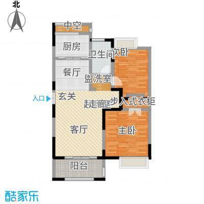 中茵星墅湾91.00㎡3、4、5号楼C户型2室2厅1卫户型2室2厅1卫