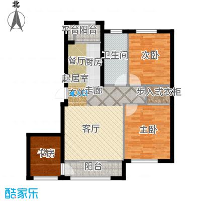 知润山77.00㎡L户型'二+一'室两厅77平米,10#11#户型2室1厅1卫