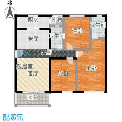 祈福新村111.71㎡23栋3/F-02户型3室2卫1厨