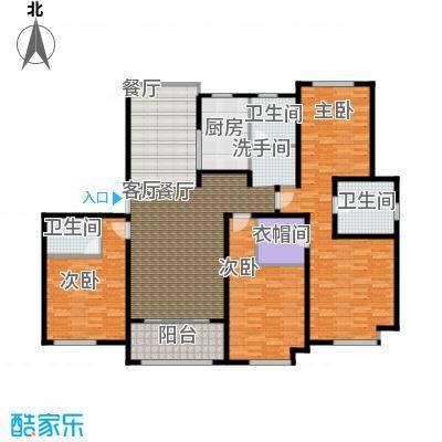 绿地白金汉宫171.00㎡A1、A2、A3、A4、A5、A6楼C1户型四房两厅三卫171平米户型4室2厅3卫