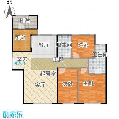 天润・香墅湾1号136.00㎡C户型3室2厅2卫