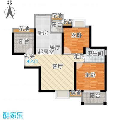 首开悦澜湾高层D1户型2室1卫