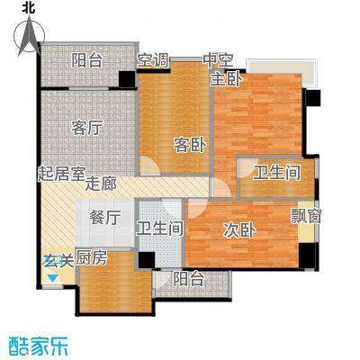 广弘天琪A栋04户型3室2卫1厨