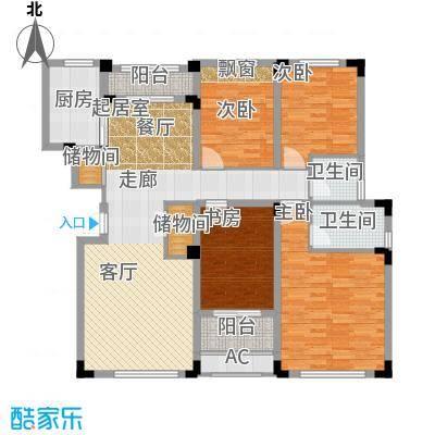 凤凰湖壹号140.00㎡【黄金水岸】户型4室2厅2卫