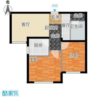 北京奥林匹克花园72.71㎡A5-户型2室1卫1厨