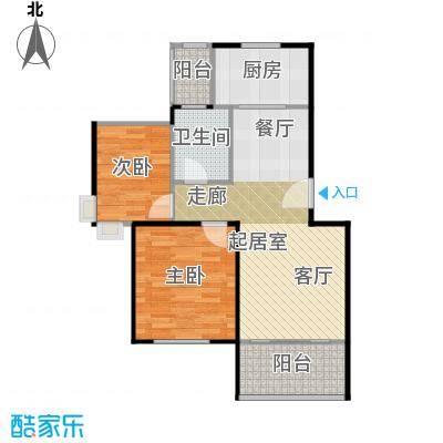 碧桂园生态城78.06㎡J201-B户型2室2厅1卫