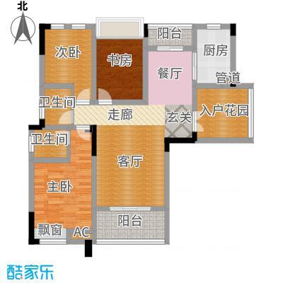 远洋高尔夫国际社区92.00㎡洋房C户型 套内面积92㎡两室两厅两卫户型2室2厅2卫