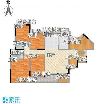 招商澜园户型图10栋A、B 、C单元 E+F户型 五房两厅两卫(1/5张)