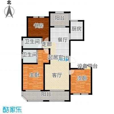 青枫壹号140.00㎡D户型 三室两厅两卫户型3室2厅2卫