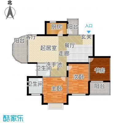 南博湾花园丙B户型3室2卫1厨