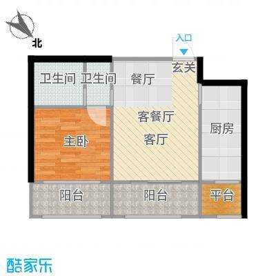 金科清都记忆64.05㎡金科清都记忆户型图E户型一室两厅64.05平米户型图(1/4张)户型1室2厅1卫