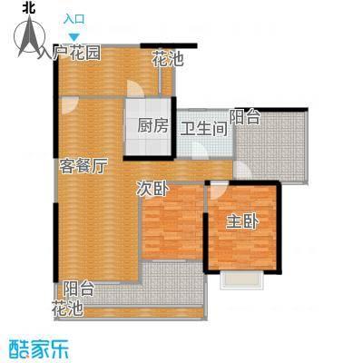 莲湖四季豪园110.52㎡户型3室2厅1卫