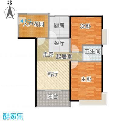东海阳光66.76㎡户型2室1卫1厨