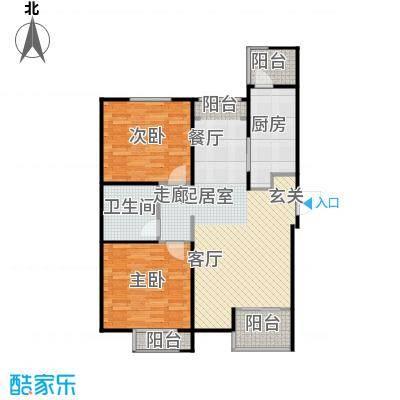 弘泽鉴筑95.00㎡3号楼朗悦居户型2室1厅1卫