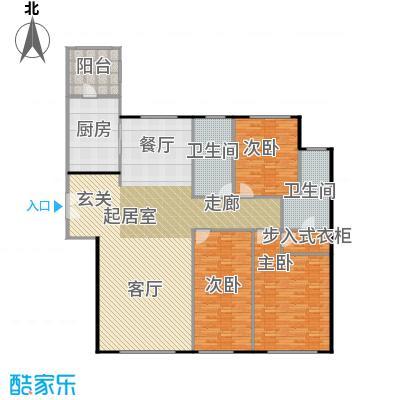 天润・香墅湾1号135.00㎡C户型3室2厅2卫