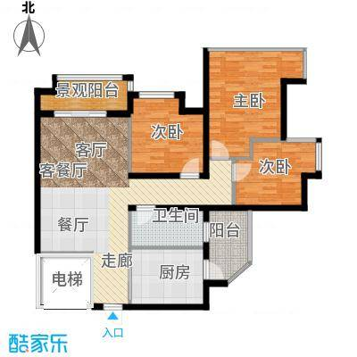 雅居乐锦官城雅居乐星汇04栋0户型3室1厅1卫1厨