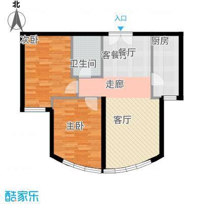 新华联运河湾84.31㎡C2'户型2室2厅1卫