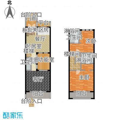 山水路8号163.72㎡山水路8号皇冠明廷E户型2室2厅3卫