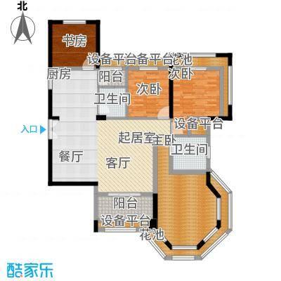洪客隆英伦联邦130.51㎡5#-8#楼四房D户型4室2厅2卫1厨户型4室2厅2卫