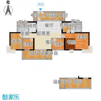 世纪新城1A栋1D栋03号房H户型4室2卫1厨