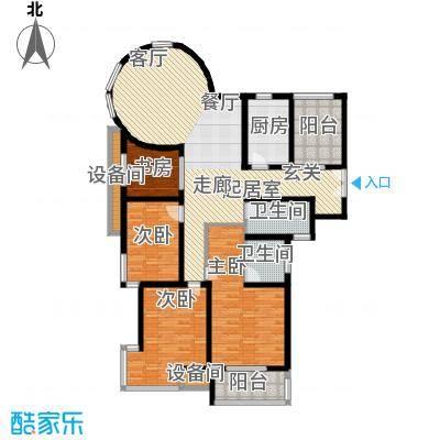 嘉宏盛世142.03㎡嘉宏盛世户型图四房二厅二卫-142.03平方米-31套(2/4张)户型10室