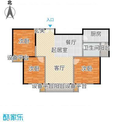 嘉宏盛世113.22㎡嘉宏盛世户型图三房二厅一卫-113.22平方米-31套(1/2张)户型10室