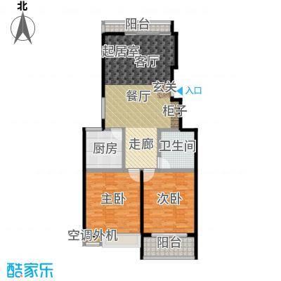 金田雅居106.85㎡金田雅居户型图二房二厅一卫-106.85平方米-72套(2/3张)户型10室