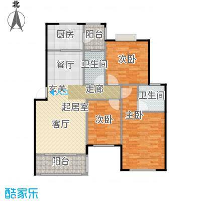 碧桂园生态城105.00㎡J203-02B户型3室2厅2卫