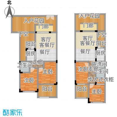 汇祥云深处39.00㎡汇祥云深处一组团B1二层端头户型2室2厅2卫1厨 39.00㎡户型2室2厅2卫