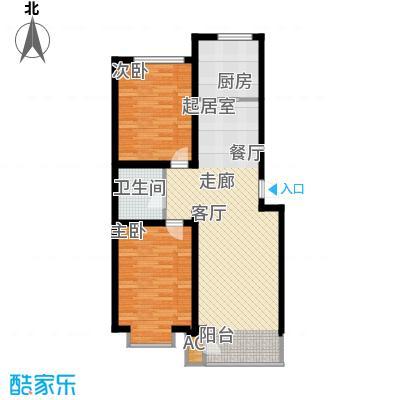 蔚蓝花城户型图二室二厅一卫(4/7张)