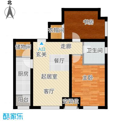 瞰海品筑90.60㎡瞰海品筑户型图02/05户型(1/12张)户型2室2厅1卫