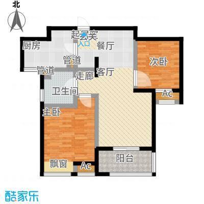 新城长岛新城长岛户型图两房两厅一卫78.3㎡(4/57张)户型10室