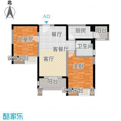 碧桂园滨海城95.00㎡J409-B 此户型已售罄户型2室2厅1卫