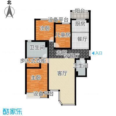 合生君景湾154.00㎡三室两厅两卫户型3室2厅2卫