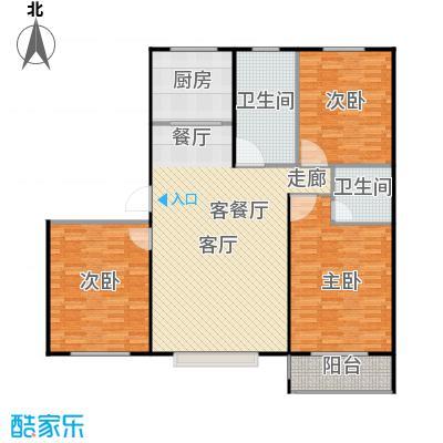 丽景盛园134.00㎡C1户型 3室2厅2卫 134.00㎡户型3室2厅2卫