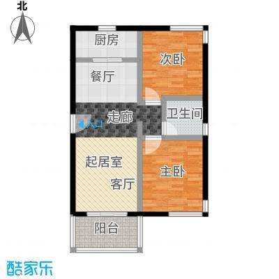祈福新村69.62㎡21253141栋4/F2729栋3/F-02户型2室1卫1厨