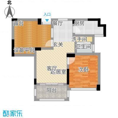 学府馨苑68.23㎡B2户型1室2厅1卫