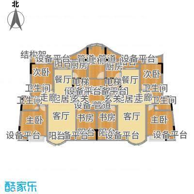 日湖花园日湖花园户型图三房-135㎡(1/3张)户型10室