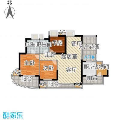 湖滨壹号137.00㎡137-138平方户型3室2厅2卫QQ